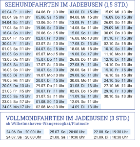 Reederei Warrings - Seehundfahrten